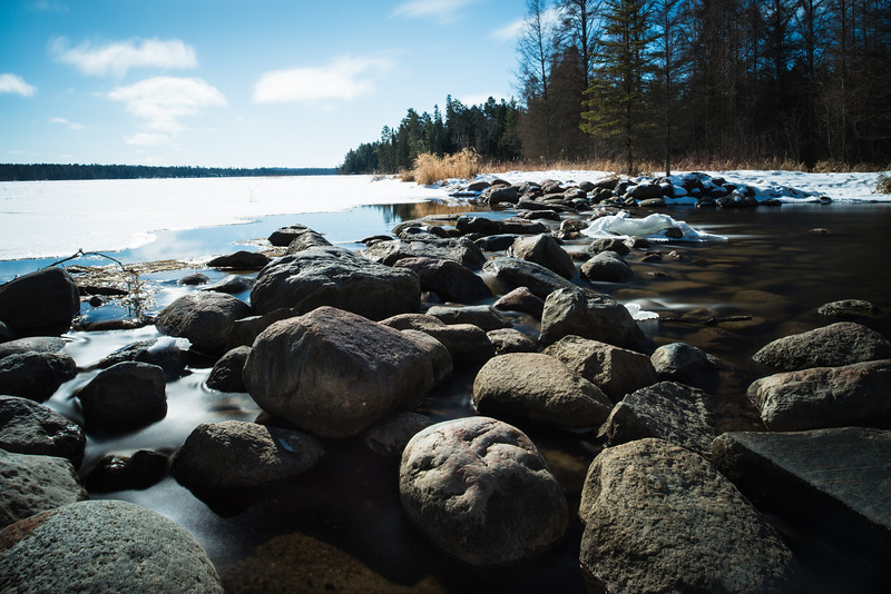 The headwaters of the Mississippi at Itasca State Park