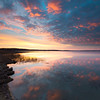 Sunset over Marion Lake, Ottertail County, Minnesota