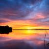 Sunrise at Little Pine Lake
