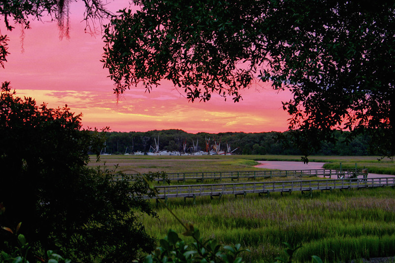 """Coffin Creek Sunrise""<br /> St. Helena Island, SC"