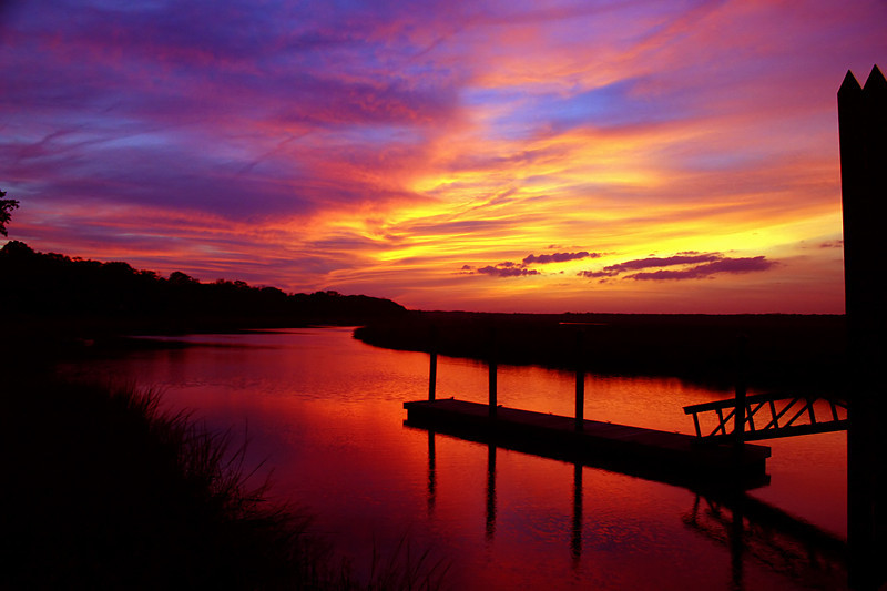 """Village Creek Sunset""<br /> St. Helena Island, SC"