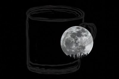 Moonrise over Lone Peak Wilderness #6 - 7Mar12