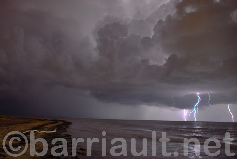 Thunderstorm rolls in at San Luis Pass, Galveston, TX