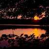 The sun set over a small pond in Lunenburg on Sunday night on Lancaster Street. SENTINEL & ENTERPRISE/JOHN LOVE
