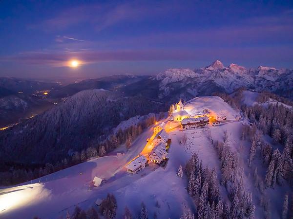 Lussari notturno - Alpi Giulie