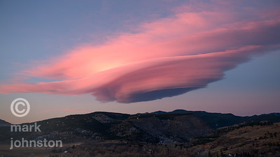 Lenticular cloud over Lyons Colorado