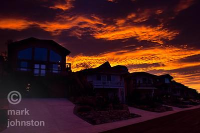 Blazing sunrise, Lyons, Colorado