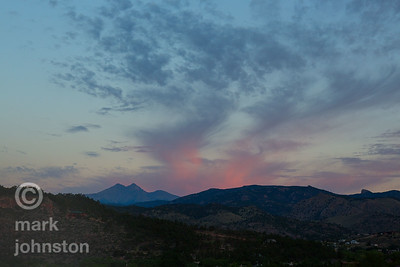 Soft sunset over Lyons, Colorado