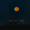 SUPER MOON HUNTINGTON BEACH PIER