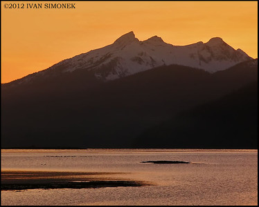 """ORANGE SUNSET"", Wrangell,Alaska,USA."