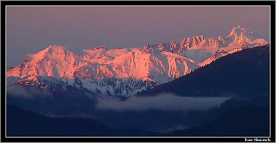 """PINK REALITY"",Coastal mountains as seen from Wrangell island, Alaska,USA.----- ""RUZOVA REALITA"",pohled na Pobrezni hory z ostrova Wrangell, Aljaska,USA."
