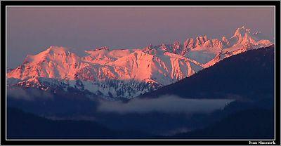 """PINK REALITY"",Coastal mountains as seen from Wrangell island, Alaska,USA.----- ""RUZOVA REALITA"",pohled na Pobrezni hory z ostrova Wrangell, Aljaska,USA."