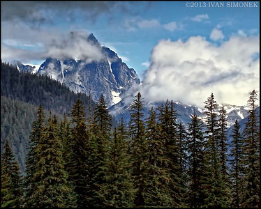 """MOODY CASTLE MT."" as seen from Stikine River,Alaska,USA."