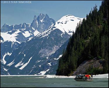 """""""SHAKES LAKE AND CASTLE MT."""",Alaska,USA."""
