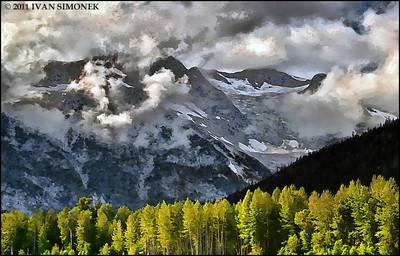 """CLOUDY"",converted HDR image,Coastal mountains along Stikine river,B.C.,Canada."