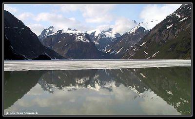 """""""HALF FROZEN SHAKES LAKE"""", Alaska, USA, May 17,04.-----""""NAPUL ZAMRZLE JEZERO SHAKES"""", Aljaska, USA,17.kvetna 04."""