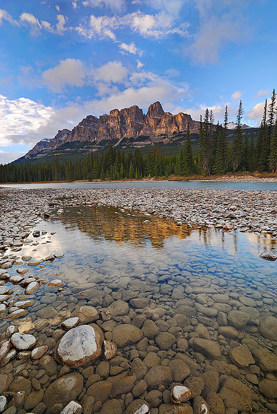 Castle Mountain Reflection, Banff AB