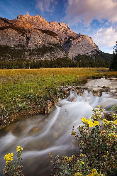 Cascade Mountain, seen from Cascade Ponds, Banff National Park, Alberta.