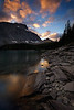 Backlit beauty- Floe Lake, The Rockwall, Kootenay National Park.
