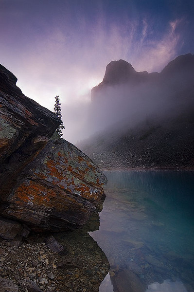Tower of Babel, Moraine Lake, Banff National Park, Alberta.