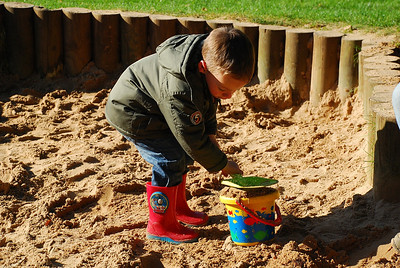 Early October 2009. Craig loves playing in the Mabie forest sandpit.