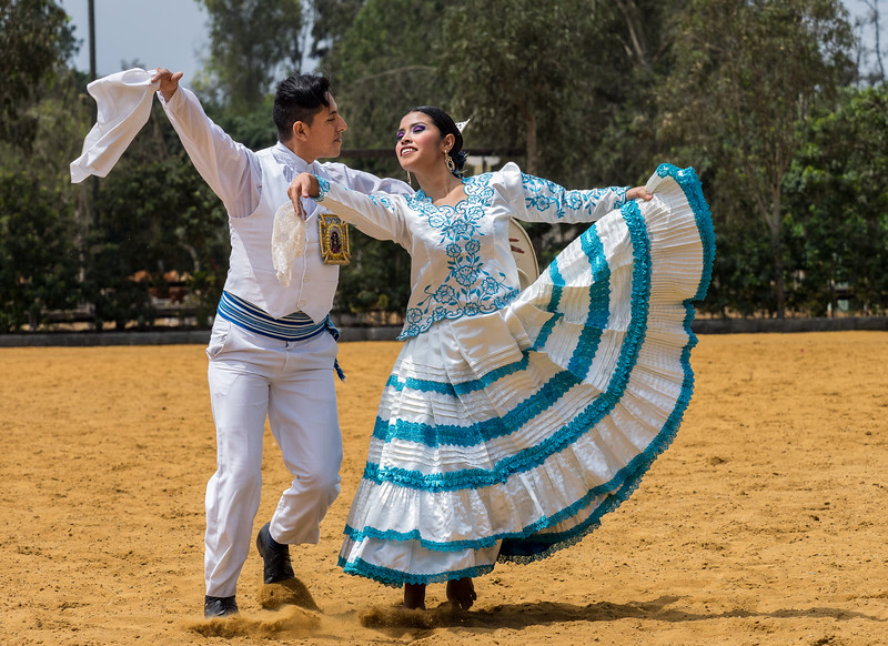 Dancers at the Hacienda Mamacona horse ranch,  Lima, Peru
