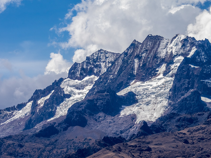 A glacier in the Andes mountains, Cusco, Peru