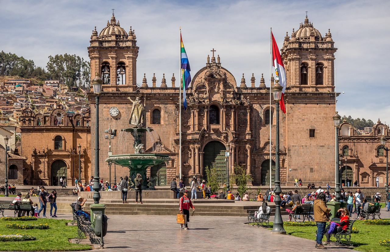 Cusco town plaza, Peru