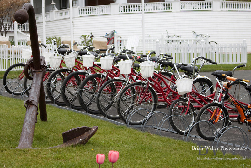bicycles for rent on Mackinac Island.