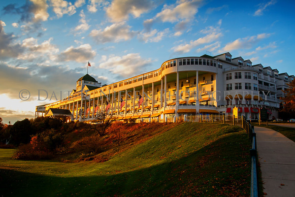 The Grand Hotel, Mackinac Island, Michigan.  This image was taken during the Somewhere in Time weekend October 25, 2012.