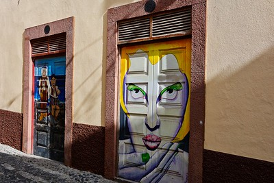 The doors of rua Santa Maria