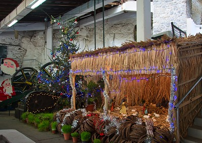 Christmas crib in rum distillery of Madere