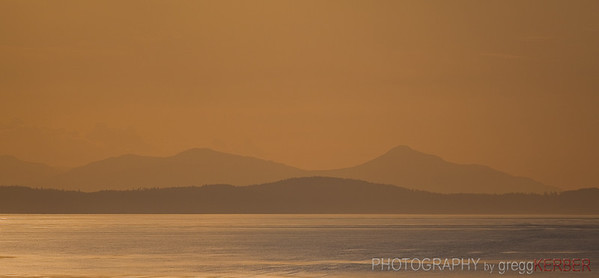 Sunset, Strait of Georgia