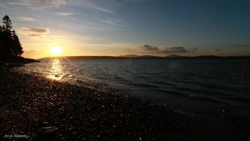 Sunrise in Lamoine, Maine