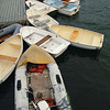 DINGHYS TIED TO DOCK