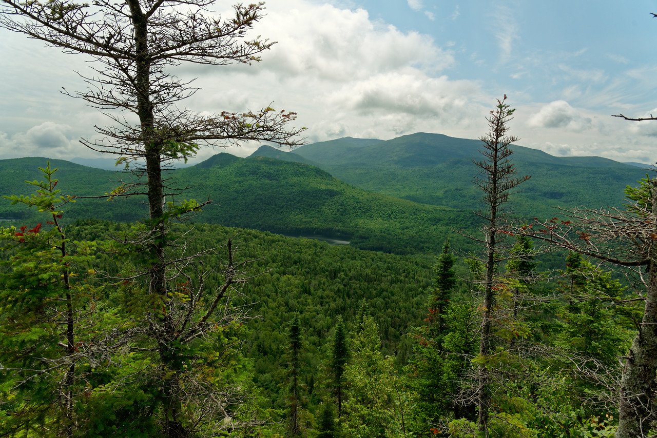 Trout Brook Mountain trail, Baxter State Park Laurie's Ledge Trail, Indian Mountain, 100 Mile Wilderness