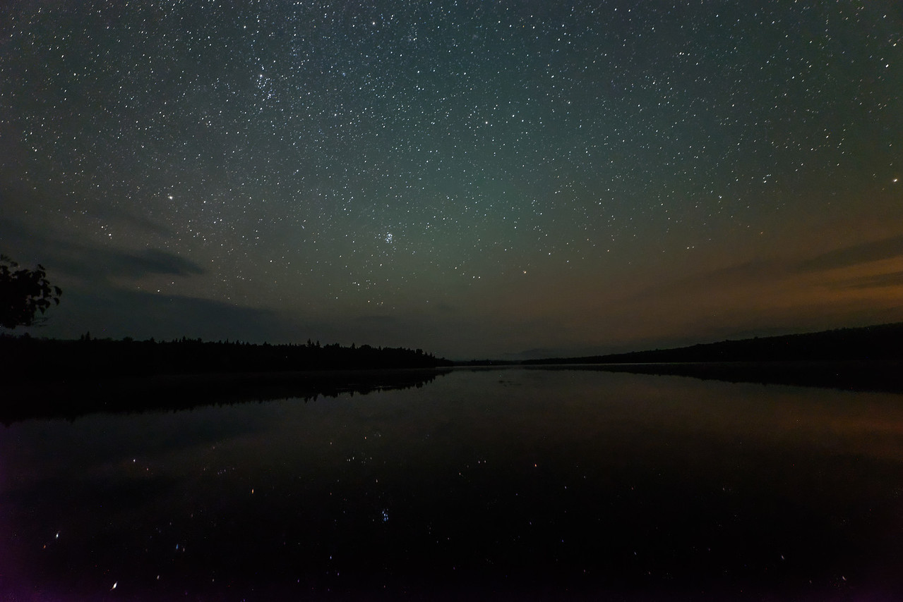 Stars and Milky Way at Long Pond, 100 Mile Wilderness