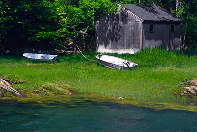 A classic Maine scene on the shores of Broad Cove, Casco Bay