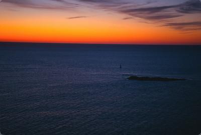 Sunrise over the Atlantic Ocean in Acadia National Park, Bar Harbor, Maine