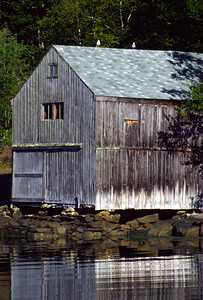 Boathouse in Back Cove, Maine