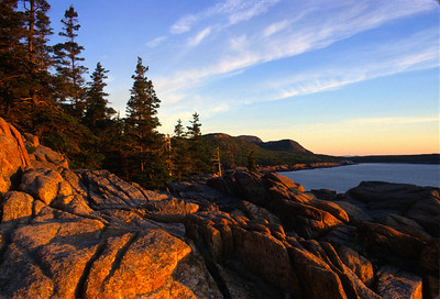 Sunrise in Bar Harbor Maine, Acadia National Park.