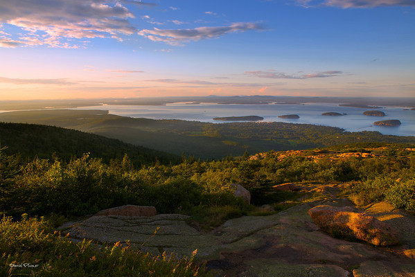 Golden Hour On Cadillac Mountain