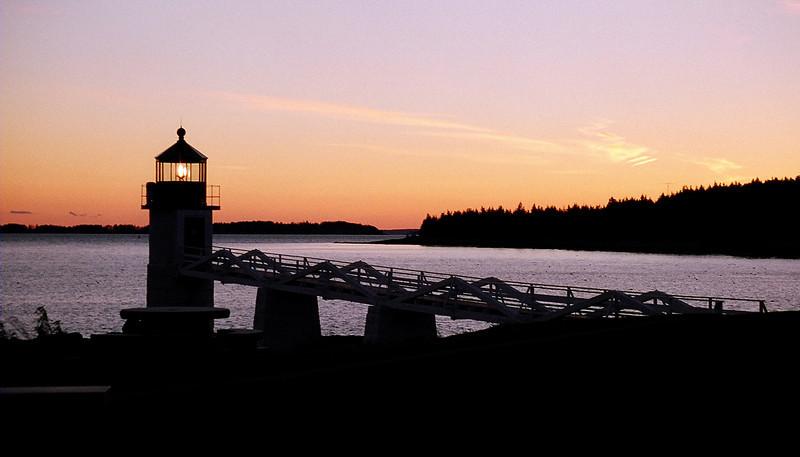 Marshall Point lighthouse at sunrise, Maine