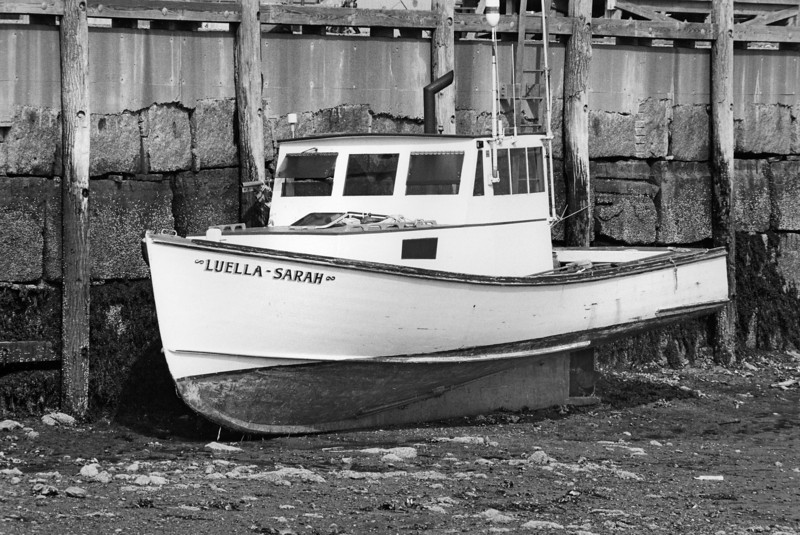 Luella Sarah at low tide, Stonington Maine