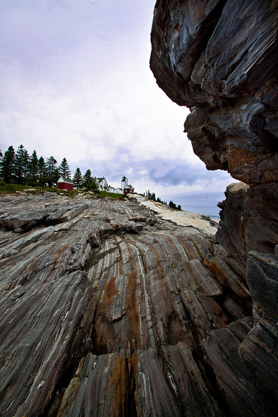 Pemaquid Point Lighthouse  - view from the rocks