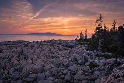 Sunset, Schoodic Point, Acadia NP