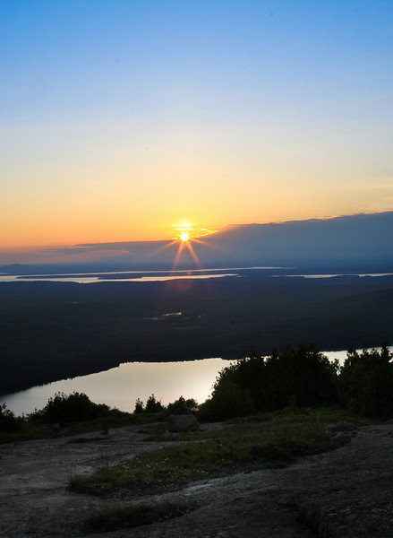 Sunset on Cadillac Mountain, ME