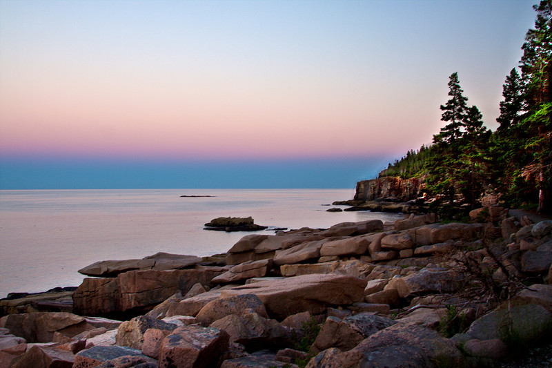 Sunset at Otter Point, Acadia