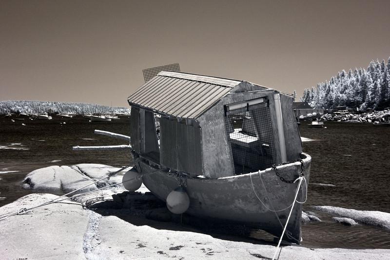 Stranded Boat, Stonington, ME