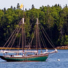 Sailboat in Northwest Cove. This image was taken on Blue Hill Peninsula at the Woodenboat School facility in Brooklin, Maine. Woodenboat Magazine is published here.